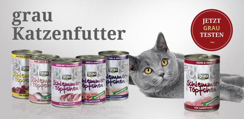 grau Katzenfutter