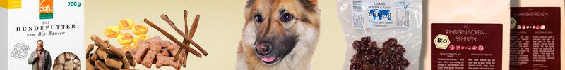 Banner Hundefutter Bio Snacks für Hunde