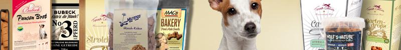 Banner Hundefutter Gebackene Snacks für Hunde