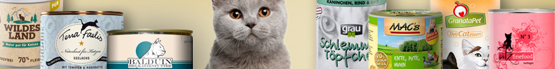 Banner Katzenfutter Getreidefreies Futter Nassfutter