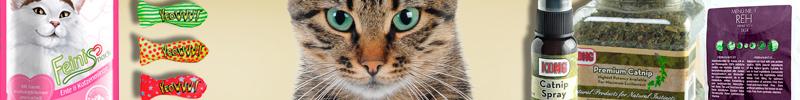 Banner-Katzenfutter-Leckerlis-und-Snacks-Katzenminze