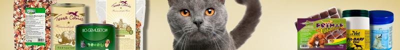 Banner Katzenfutter Spezial-& Frostfutter BARF Frostfutter Ergänzungsfutter und Supplemente
