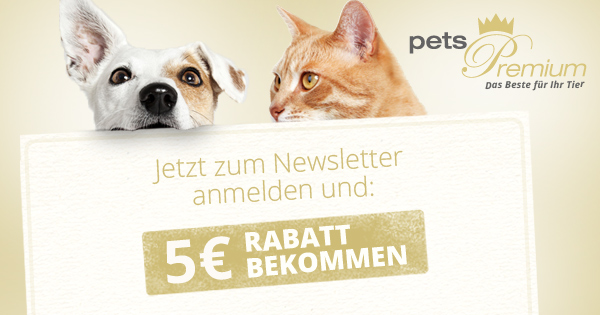 Newsletter pets Premium Anmeldung