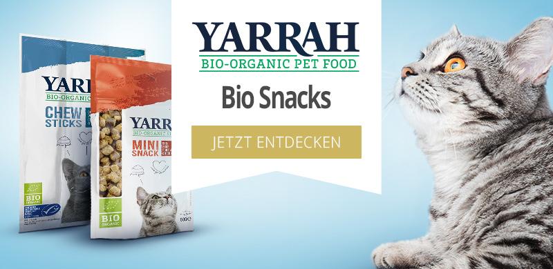 Yarrah Bio Snacks für Katzen