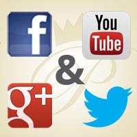 FB, G+, Twitter und Youtube bei pets Premium