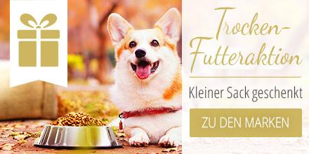 Trockenfutter Aktion für Hunde - Kleiner Sack geschenkt