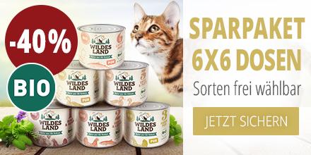 Wildes Land BIO Nassfutter Aktion für Katzen