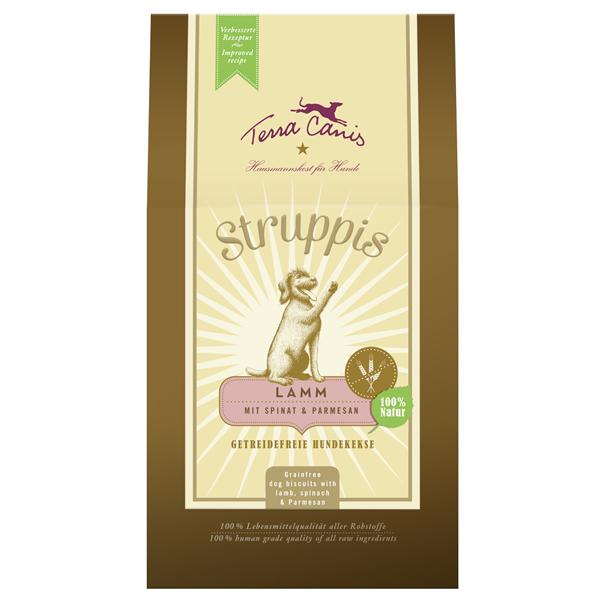 6 x 375 g | Terra Canis | Lamm mit Spinat & Parmesan Struppis | Snack | Hund