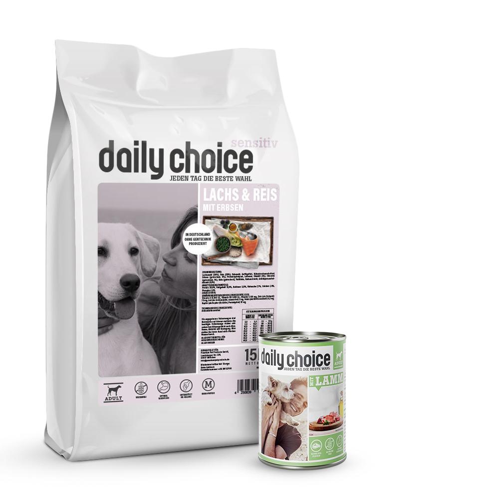 15 kg + 6 x 400g, Spar-Mix-Paket, Hundefutter, Trockenfutter, daily choice