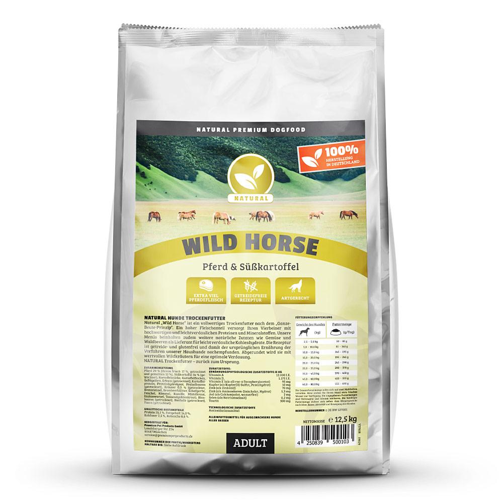 getreidefreies Hundefutter, Pferd, 12,5kg, Trockenfutter, Natural