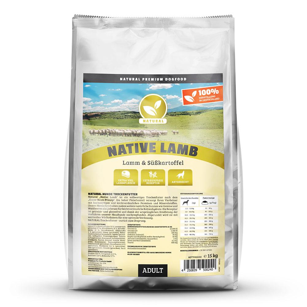 getreidefreies Hundefutter, Lamm, 15kg, Trockenfutter, Natural