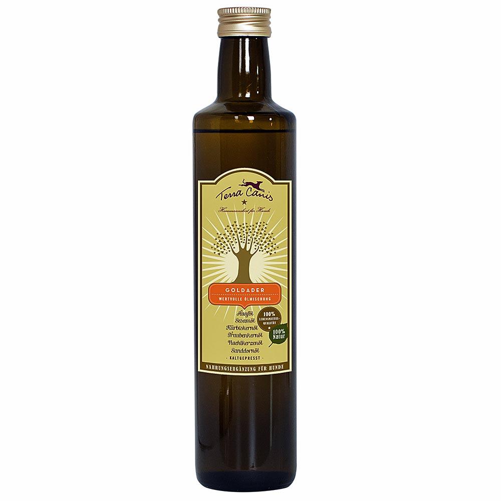 6 x 250 ml | Terra Canis | Goldader Öle | Ergänzung | Hund