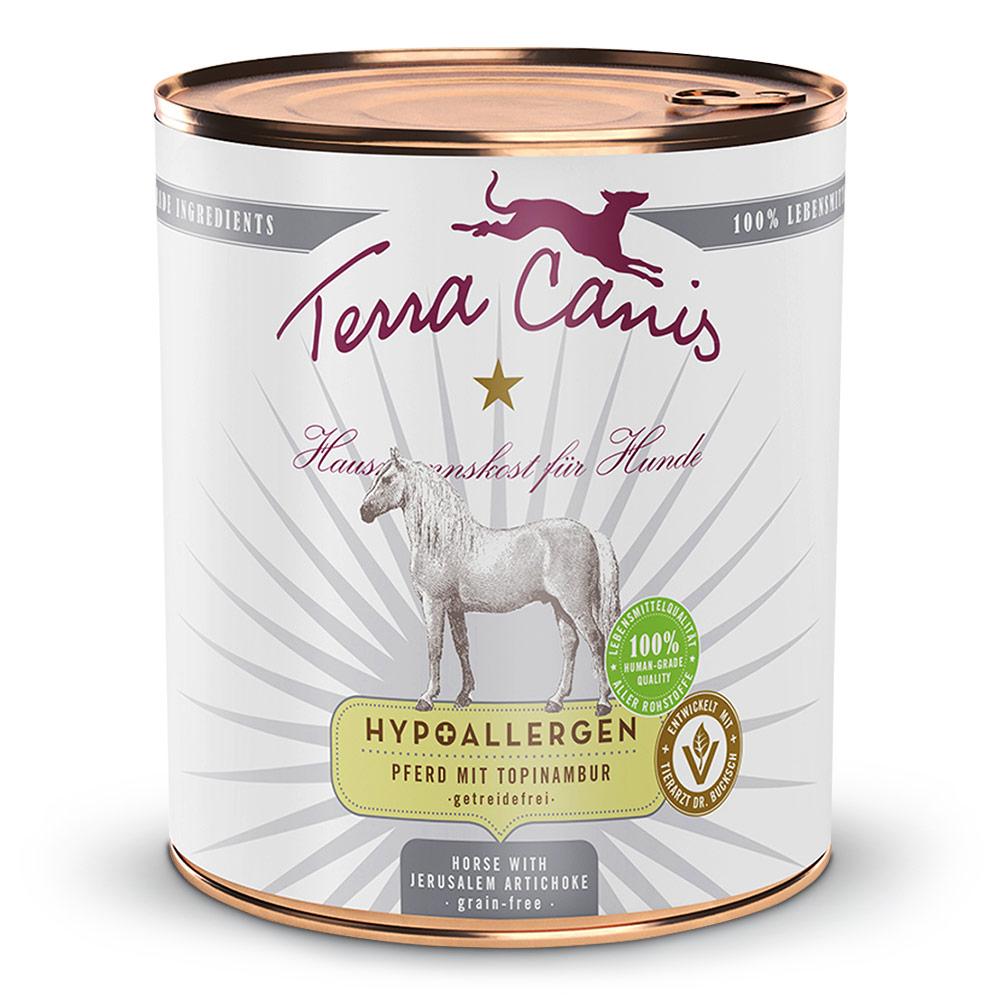 24 x 800 g | Terra Canis | Pferd mit Topinambur Hypoallergen | Nassfutter | Hund