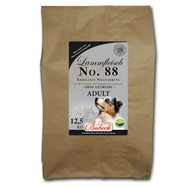 12,5 kg | No. 88 Adult Lammfleisch Trockenfutter/gebackenes Hundefutter | Bubeck