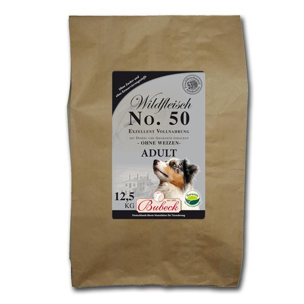 12,5 kg | No. 50 Adult Wildfleisch Trockenfutter/gebackenes Hundefutter | Bubeck