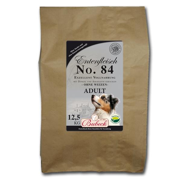 12,5 kg | No. 84 Adult Entenfleisch Trockenfutter/gebackenes Hundefutter | Bubeck