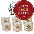 Wildes Land - Nassfutter - Probe-Paket für Katzen mit 6 Sorten (getreidefrei)