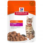 Hill's - Nassfutter - Science Plan Feline Adult Optimal Care mit Rind