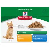 Hill's - Nassfutter - Science Plan Feline Kitten Multipack Huhn & Seefisch