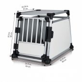 Trixie - Hundezubehör - Transportbox Aluminium