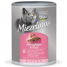 grau - Trockenfutter - Miezelinos Kitten mit Geflügel & Fisch