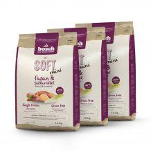 Bosch - Trockenfutter - Vorteilspaket Soft Mini Fasan und Süßkartoffel 3 x 2,5kg