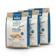 Bosch - Trockenfutter - Vorteilspaket Soft Junior Hühnchen und Süßkartoffel 3 x 2,5kg