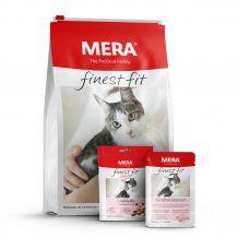 Mera - Katzenfutter - Premium Paket Finest Fit Sensitive Trockenfutter 10kg + Nassfutter 12 x 85g + Snack 9 x 80g