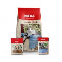 Mera - Premium Paket Country Taste Trockenfutter 1,5kg + Nassfutter 12 x 85g + Snack 9 x 80g (Katzenfutter)