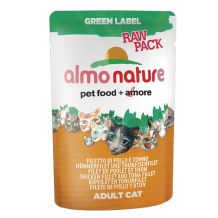Almo Nature - Green Label - Raw Pack Hühnerfilet und Thunfischfilet