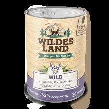 Wildes Land - Nassfutter - Wild mit Kürbis, Preiselbeeren, Wildkräutern und Distelöl 400g (getreidefrei)