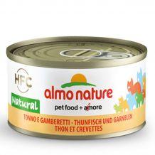 Almo Nature - Nassfutter - Thunfisch und Garnelen 70g