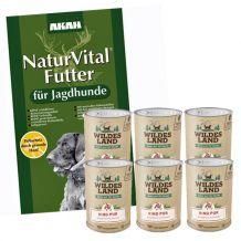 Akah - Trockenfutter - Premium Paket Natur Vital 14kg + Nassfutter 6 x 400g