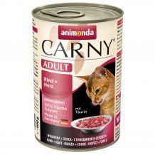 Animonda - Nassfutter - Carny Adult Rind + Herz 6 x 400g (getreidefrei)