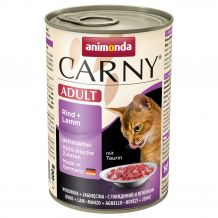 Animonda - Nassfutter - Carny Adult Rind + Lamm 6 x 400g (getreidefrei)