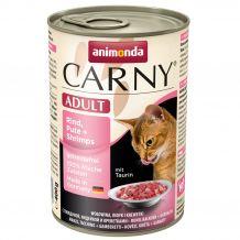 Animonda - Nassfutter - Carny Adult Rind, Pute + Shrimps 6 x 400g (getreidefrei)