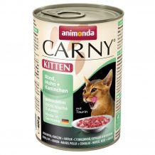 Animonda - Nassfutter - Carny Kitten Rind, Huhn + Kaninchen 6 x 400g (getreidefrei)