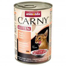 Animonda - Nassfutter - Carny Kitten Rind, Kalb + Huhn 6 x 400g (getreidefrei)