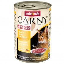 Animonda - Nassfutter - Carny Senior Rind + Huhn mit Käse 6 x 400g (getreidefrei)