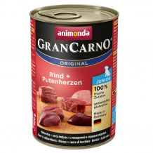 Animonda - Nassfutter - GranCarno Junior Rind + Putenherzen 6 x 400g (getreidefrei)