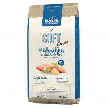 Bosch - Trockenfutter - Soft Junior Hühnchen und Süßkartoffel 12,5kg (getreidefrei)