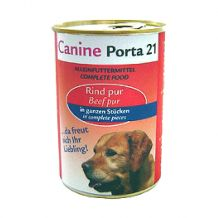 Canine-Porta 21 - Nassfutter - Rind Pur
