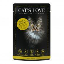 Cats Love - Nassfutter -  Kalb und Truthahn mit Katzenminze und Leinöl 6 x 85g (getreidefrei)