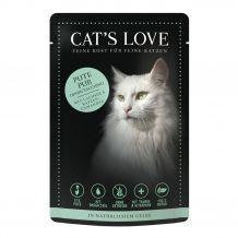 Cat's Love - Nassfutter - Pute Pur mit Lachsöl und Katzengamander 6 x 85g (getreidefrei)