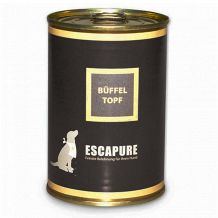 Escapure - Nassfutter - Büffel-Topf 400g (getreidefrei)