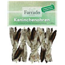 Farrado - Kausnack - Kaninchenohren mit Fell (getreidefrei)