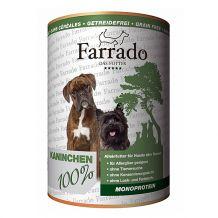 Farrado - Nassfutter Hund - 100% Kaninchen 400g (getreidefrei)