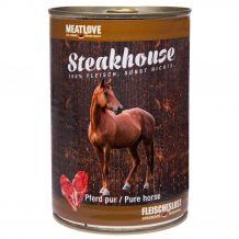 Fleischeslust - Nassfutter - Steakhouse Pferd Pur 410g