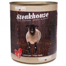 Fleischeslust - Nassfutter - Steakhouse Lamm Pur 820g