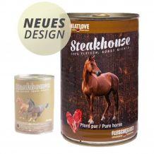 Fleischeslust - Nassfutter - Steakhouse Pferd Pur